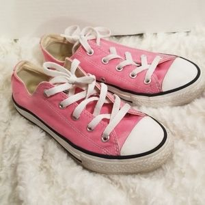 Youth girls hot pink Converse All Stars